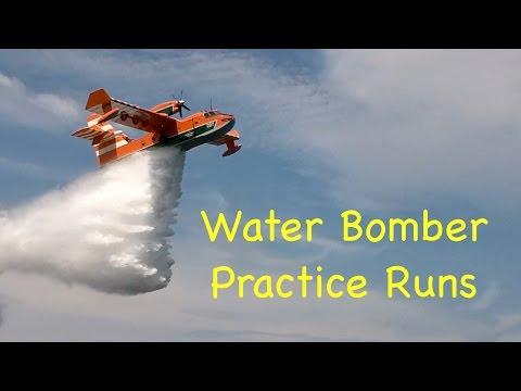 Water Bomber Practice Runs