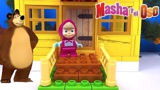 LA CASA DE MASHA OSO AYUDA A MASHA A CONSTRUIR SU CASA CON BLOQUES DE CONSTRUCCION PLAY BIG BLOXX