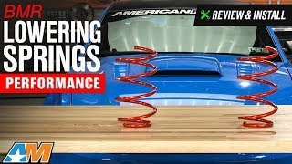 2005 2014 mustang gt bmr lowering springs performance review install