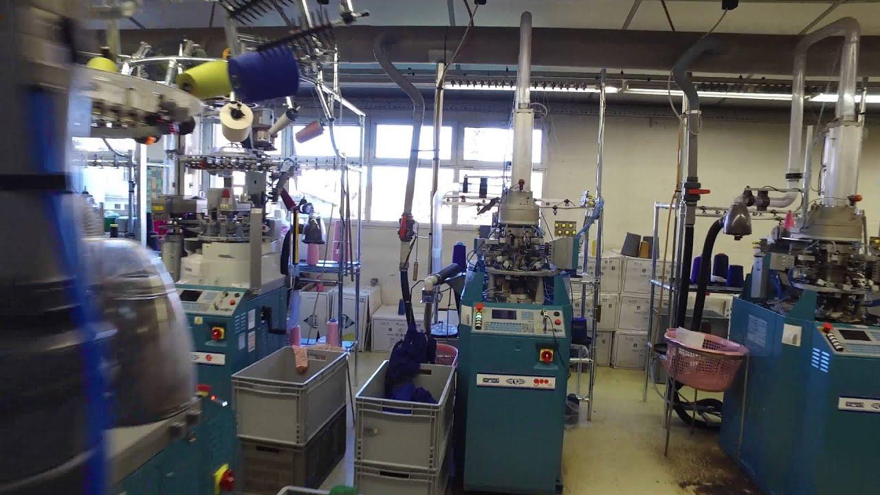 3e15fad9681 Atelier de fabrication de chaussettes collants BROUSSAUD 2016 - YouTube