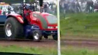 Drag tractor racing at Great Eccleston Show Tractor Pull