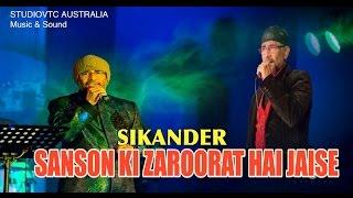 SANSON KI ZAROORAT HAI JAISE   SIKANDER LIVE AT EK RANGEEN SHAAM 2014 HD