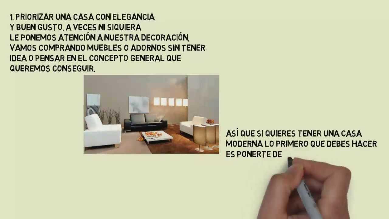 Decoraci n de interiores minimalista consejos para la decoraci n de interiores youtube - Consejos para decoracion de interiores ...