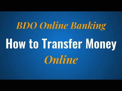 How to Transfer Money Online with BDO Online Banking - YouTube
