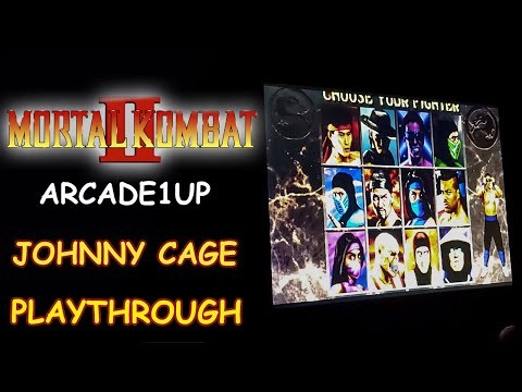 MORTAL KOMBAT 2 ARCADE1UP - JOHNNY CAGE PLAYTHROUGH + ENDING // Lets Play from JDCgaming