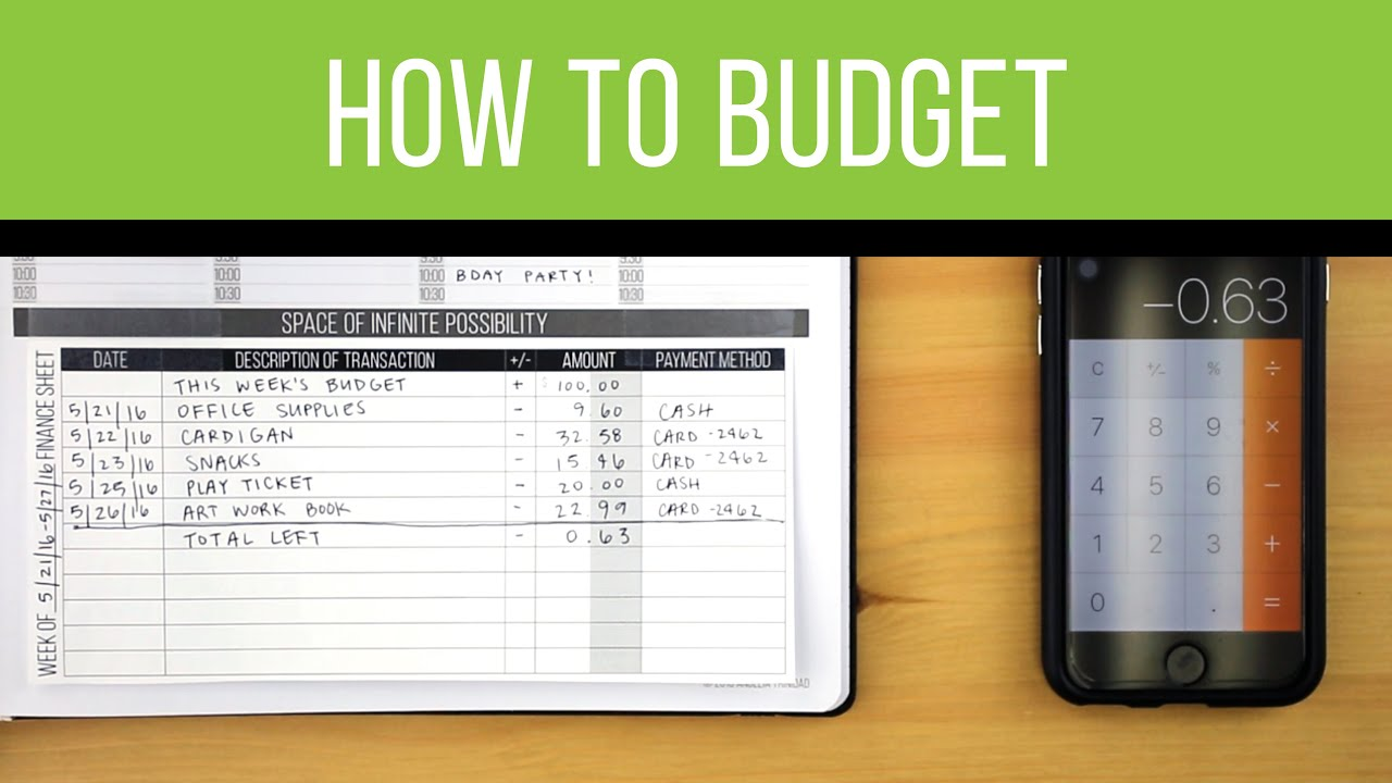 planner hacks how to budget with free download youtube