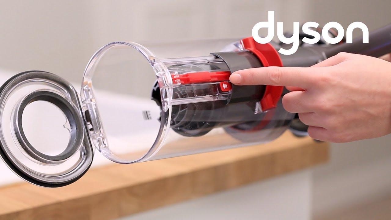 Dyson Cyclone V10 & V11 cord-free vacuums - Replacing the clear bin