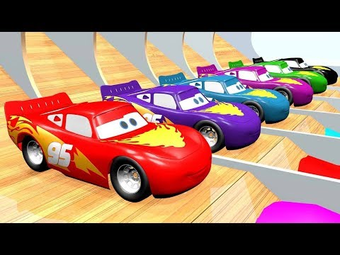Learn With Lightining Mcqueen Disney Cars 3 With Color Water Sliders For Kids