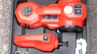 12V DC Electric Hydraulic Floor Jack Set For Car Use