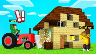 I Got TROLLED So I DESTROYED My FRIENDS HOUSE! (Minecraft)