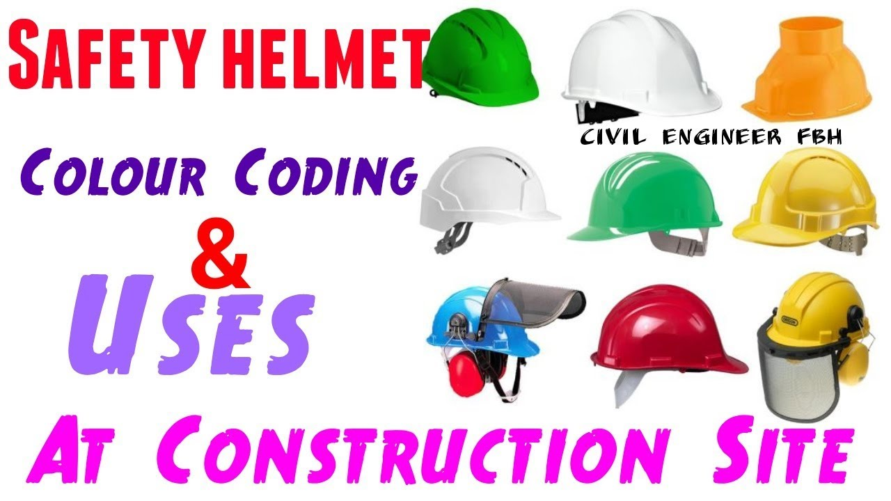 Safety Helmet Colour Coding And Uses At Construction Site Civil