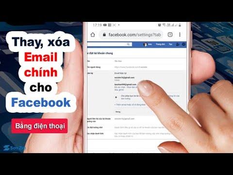 Cách thay đổi và xóa email chính trên facebook bằng điện thoại