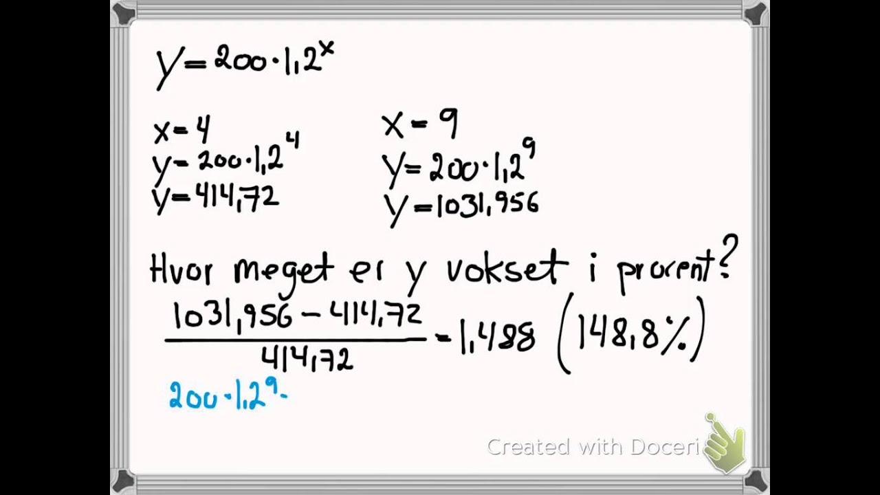 Eksponentielle funktioner - relativ tilvækst (ekstra)