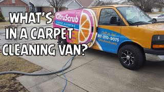 What's in a carpet cleaning van?