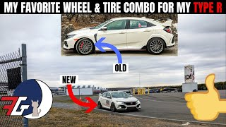 My FAVORITE Wheel & Tire setup for the Honda Civic Type R (FK8)   WIDE Wheels & MEATY Tires