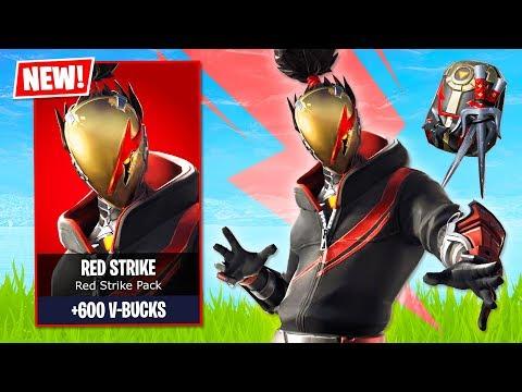 Fortnite *NEW* Red Strike Pack!! (Fortnite Live Gameplay)