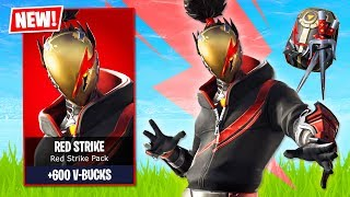 Fortnite *NEW* Red Strike Pack!! (Fortnite Live Gameplay)