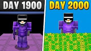 I Survived 2,000 Days in HARDCORE Minecraft...
