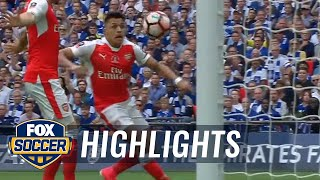 Alexis sanchez opens up the scoring for arsenal | 2016-17 fa cup final highlights