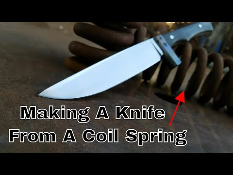 Forging A Knife From A Coil Spring
