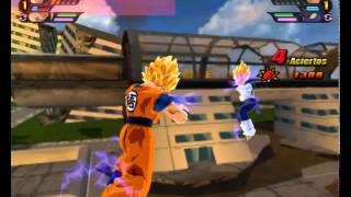 DBZBT3 Todas Las Formas De Goku VS  Todas Las Formas De Vegeta
