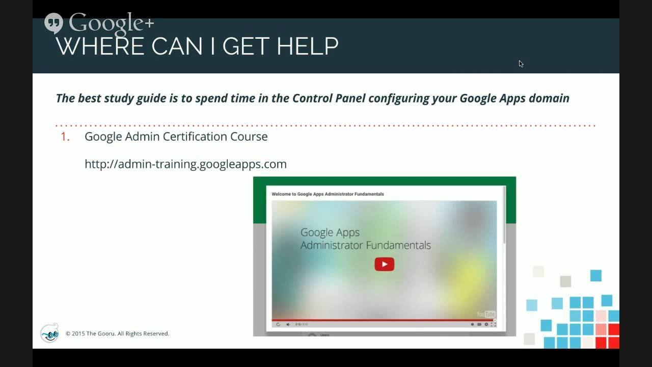 Google Apps Admin Certification Exam Overview