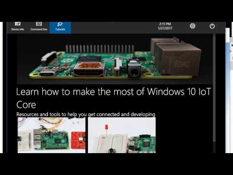 Raspberry Pi 3 - Windows IOT Core: Install and Access Remotely - Beginner