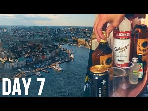Drone Flight Over Beautiful Stockholm, Drunk On a Cruise Ship - DAY7 - SCANDINAVIA IN EIGHT DAYS