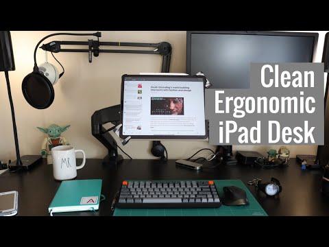 What's On My Clean Ergonomic IPad Pro Desk