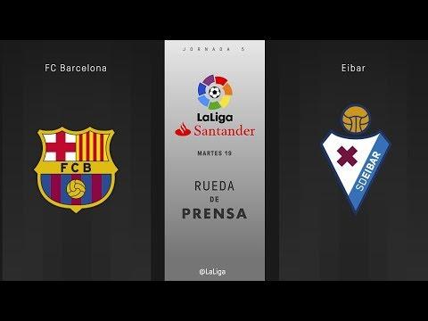 Rueda de prensa FC Barcelona vs Eibar