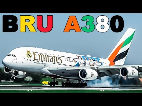 Special Visit to BRUSSELS by Special EMIRATES A380