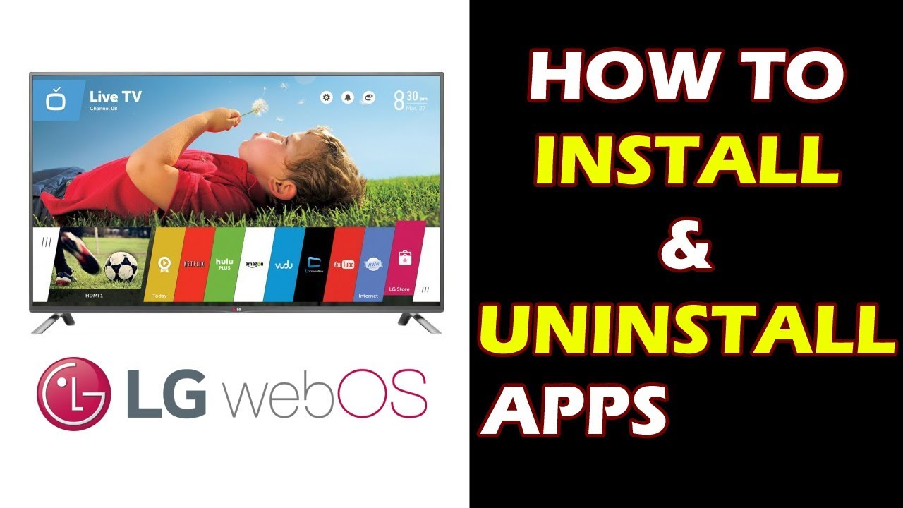 How To Install And Uninstall An App on LG Smart TV WebOS - xOlent  Productions