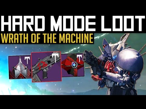 Destiny | HARD MODE GEAR! - All Wrath of The Machine Heroic Loot & Weapon Perks! (Rise of Iron)