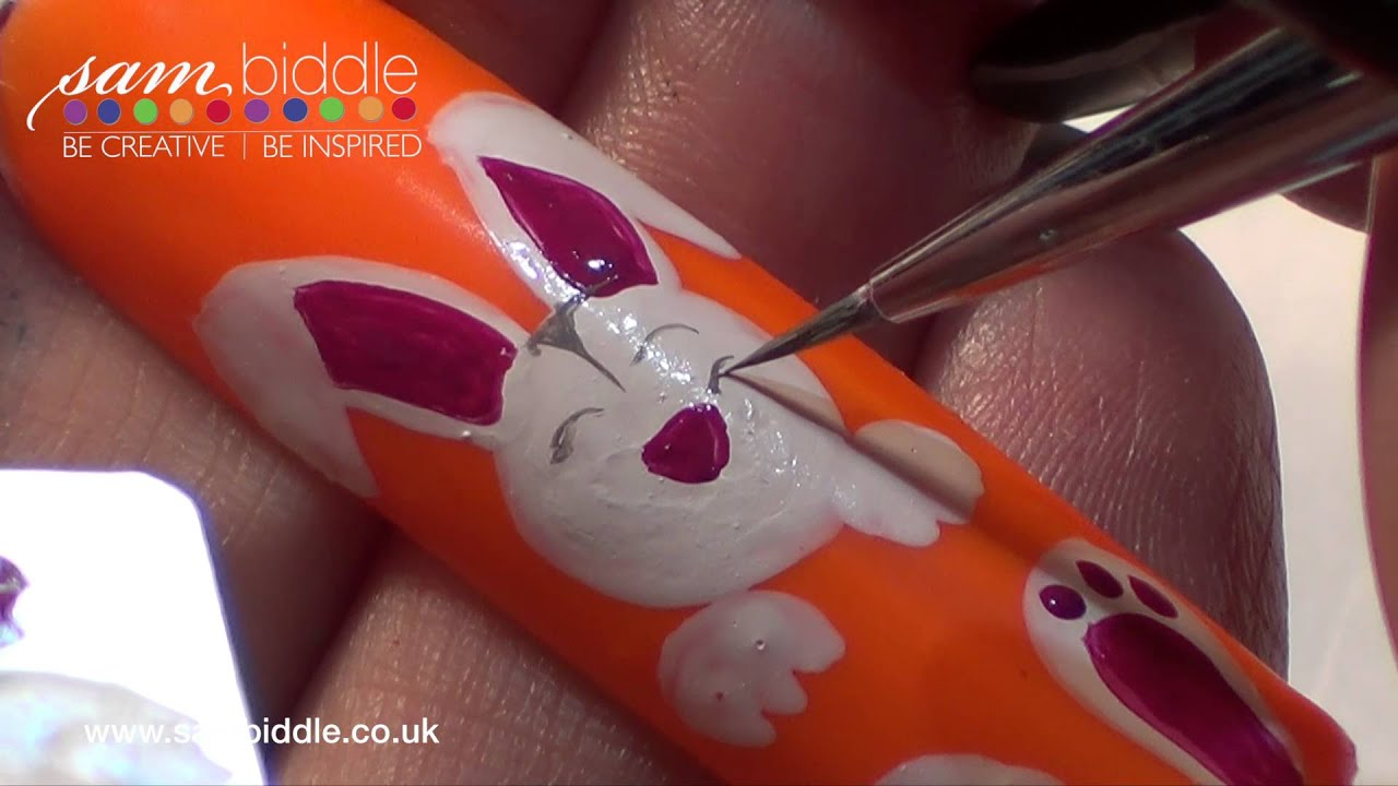 Nail art bunny rabbit for easter youtube prinsesfo Image collections