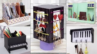 12 Best Home Organization Ideas From Waste Cardboard !!! Old Items Reuse Craft
