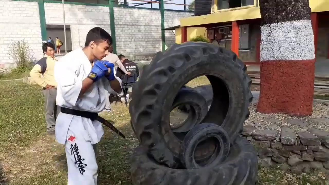 Kyokushin karate Training    Rupak Nepali
