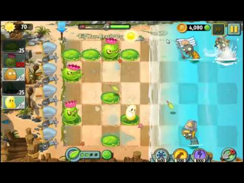 Plants vs Zombies 2 Gameplay   Big Wave Beach Day 31