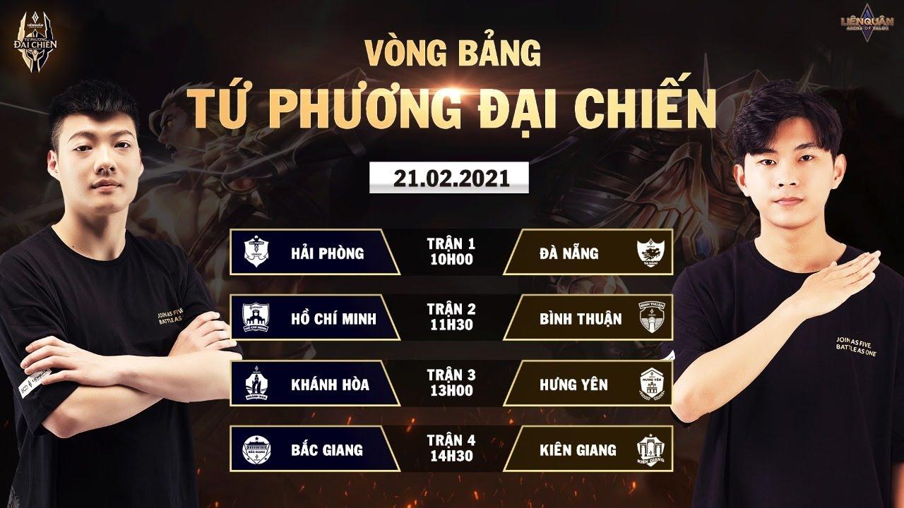 Hải Phòng vượt lên Top 2, Kiên Giang tiếp tục đứng đầu BXH Tuần 2 | Vòng bảng Tứ Phương Đại Chiến