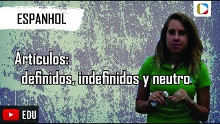 espanhol artculos i