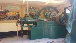 Crossley slide valve being loaded