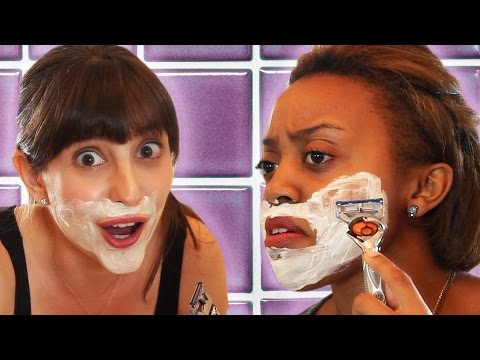 Girls Shave Their Faces For The First Time
