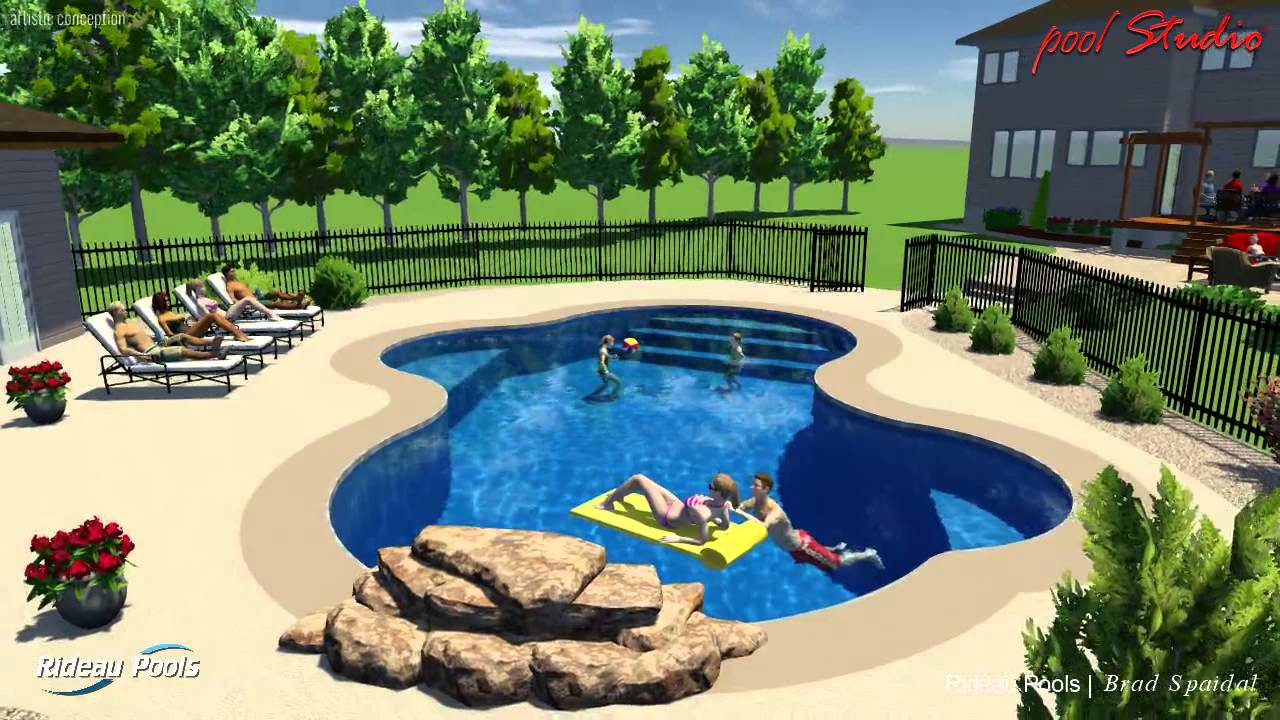 Custom lagoon pool by rideau pools ottawa youtube for Pool design utah