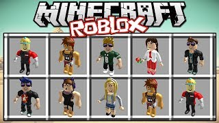 ROBLOX IN MINECRAFT WITHOUT MODS | MINECRAFT COMMANDS