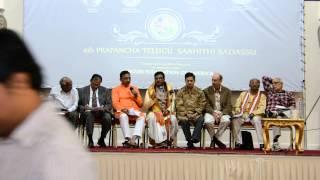 Dr. P Shyamalananda Prasad Ashtavadhanam5 at UKTA 4th World Telugu Literature Conference in London