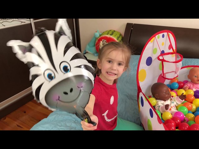 LEARN ANIMALS with balloons Video for Children by Joy Joy Lika