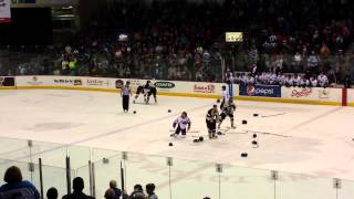 Wenatchee Wild vs Bismark Bobcats fight