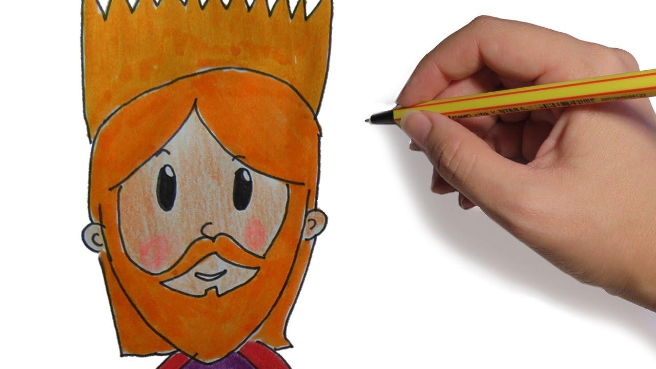Dibujos De Reyes Magos Coloreados: COMO DIBUJAR A LOS REYES MAGOS GASPAR PASO A PASO FACIL