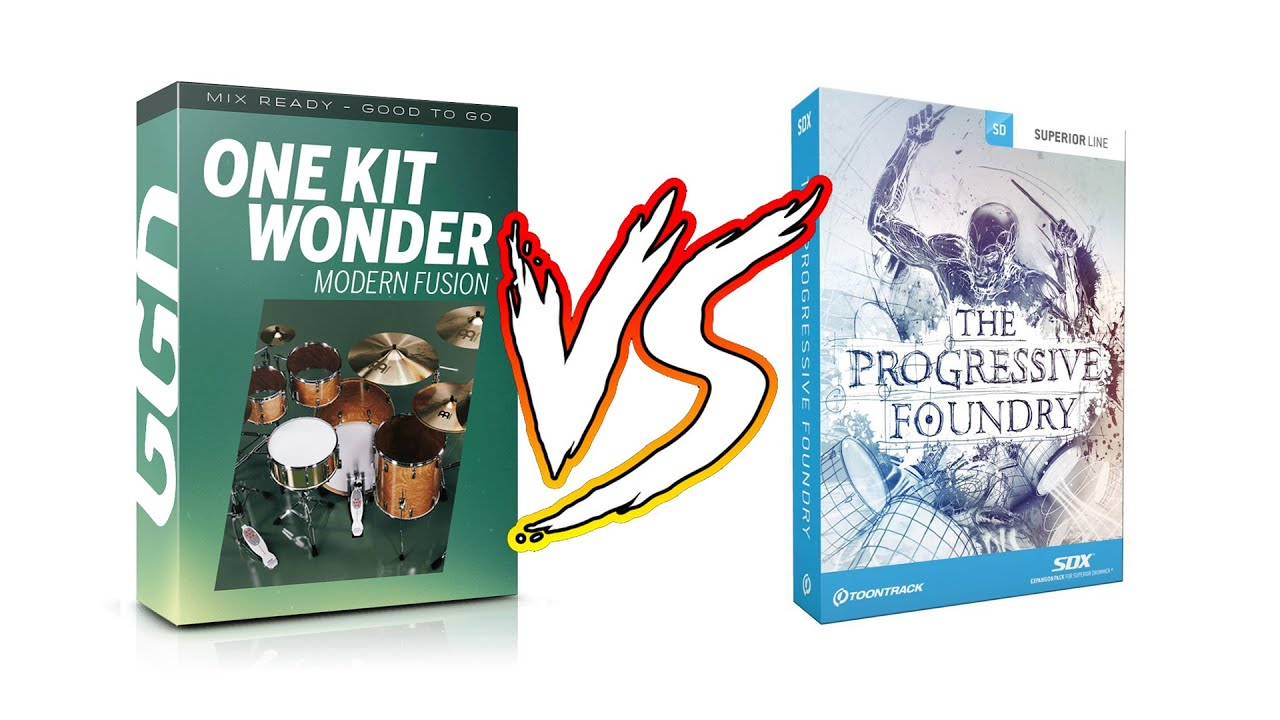 GGD One Kit Wonder Modern Fusion vs Toontrack Superior Drummer 3 (The Progressive Foundry SDX)