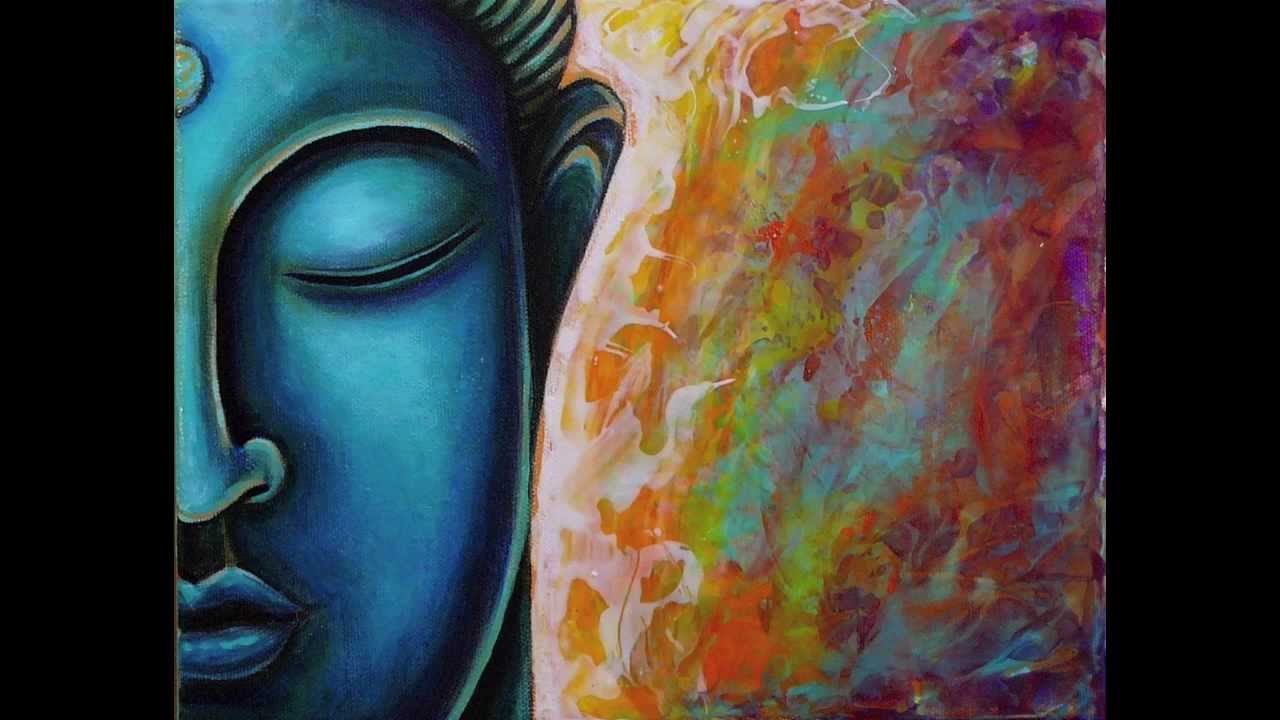 Blue Buddha Painting By Gayle