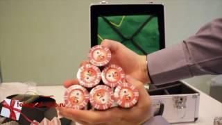 Набор для покера в кейсе - 600 фишек с номиналом